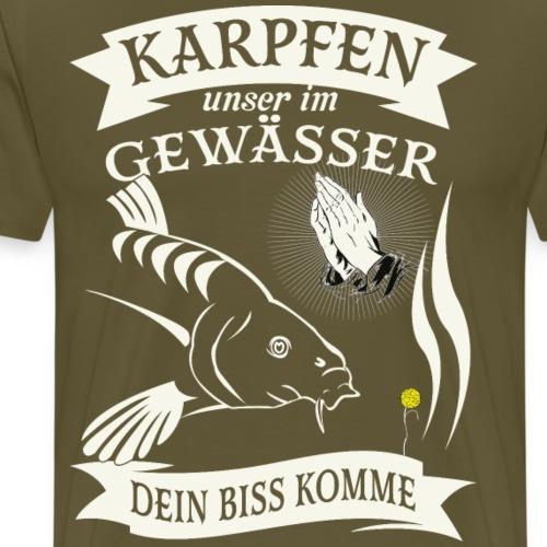 Karpfen unser im Gewässer, dein biss komme - Männer Premium T-Shirt