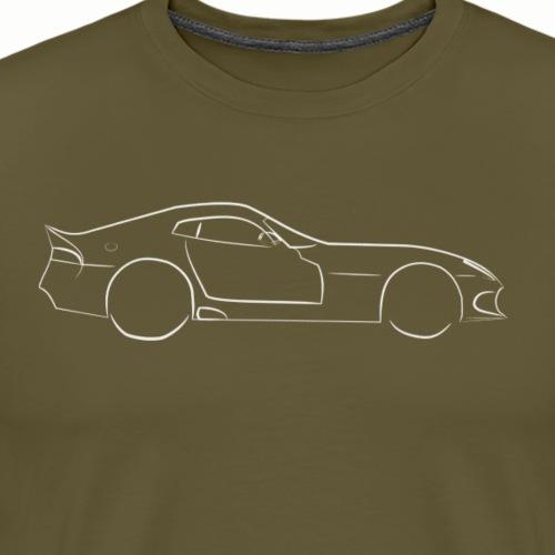 Zeichnung-Viper-Cobra-weiss - Männer Premium T-Shirt