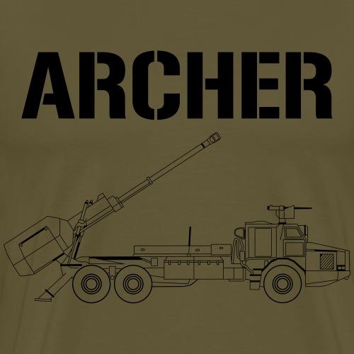 Artillerisystem ARCHER - Premium-T-shirt herr