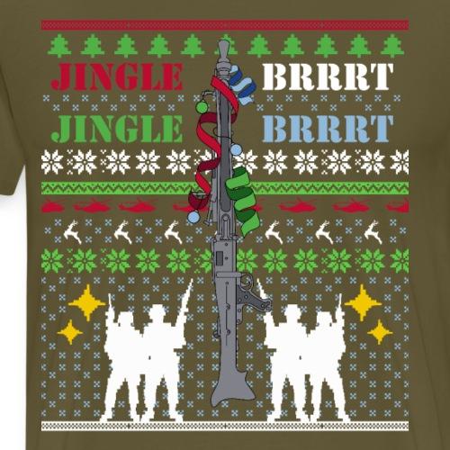 Bundeswehr Weihnachtspullover Jingle Brrrt MG3 - Männer Premium T-Shirt