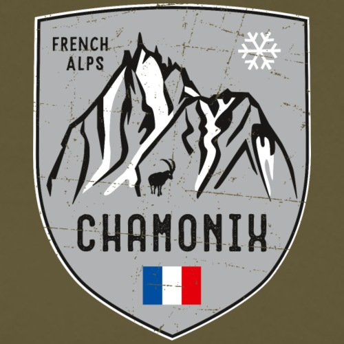 Chamonix France coat of arms - Men's Premium T-Shirt