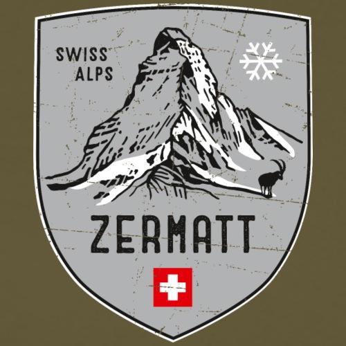Zermatt Schweiz Wappen - Men's Premium T-Shirt