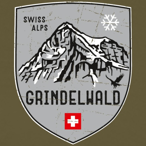 Grindelwald Switzerland coat of arms - Men's Premium T-Shirt