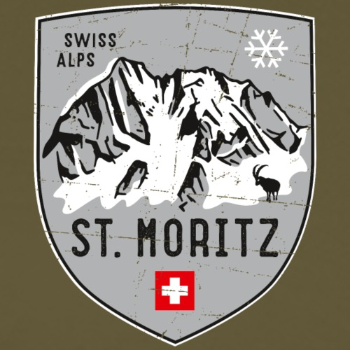 St. Moritz coat of arms - Men's Premium T-Shirt