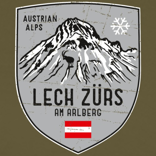 Lech Zürs Austria coat of arms - Men's Premium T-Shirt