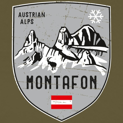 Montafon Austria coat of arms - Men's Premium T-Shirt