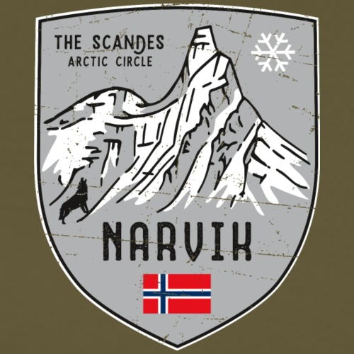 Narvik Norway coat of arms - Men's Premium T-Shirt