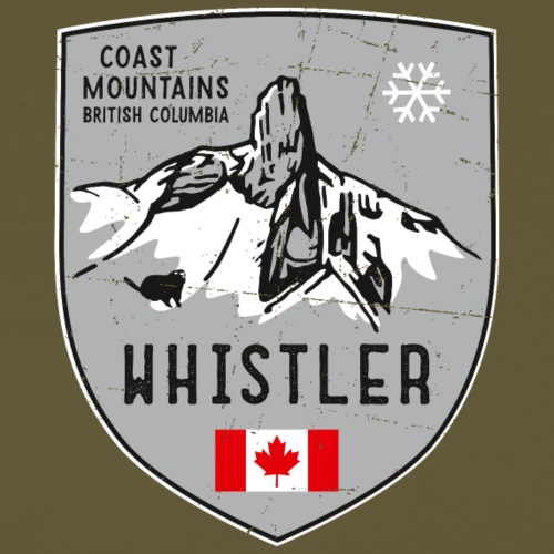 Whistler Kanada Wappen - Männer Premium T-Shirt