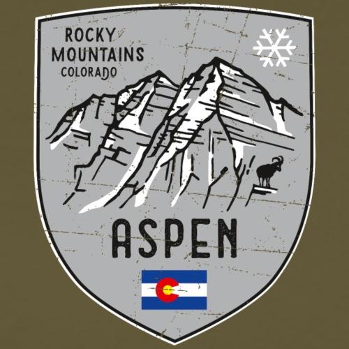 Aspen USA Wappen - Männer Premium T-Shirt