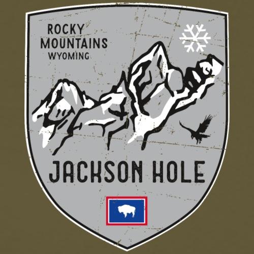 Jackson Hole USA Wappen - Männer Premium T-Shirt