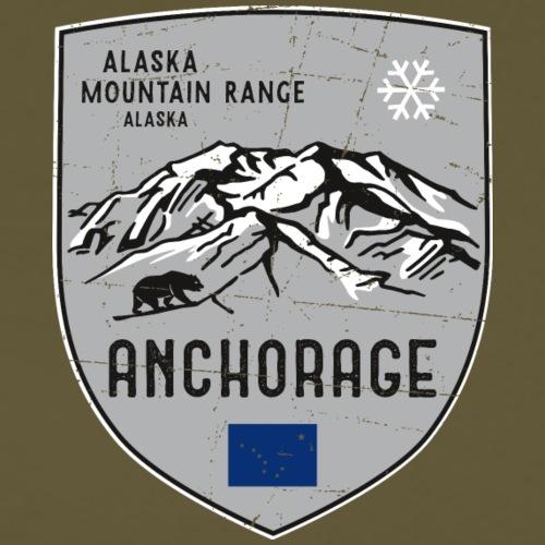Alaska USA Wappen - Männer Premium T-Shirt