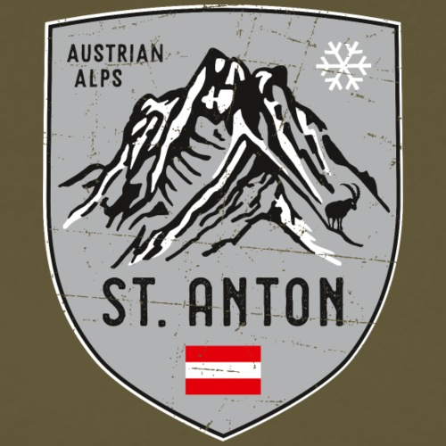 St. Anton Austria coat of arms - Men's Premium T-Shirt