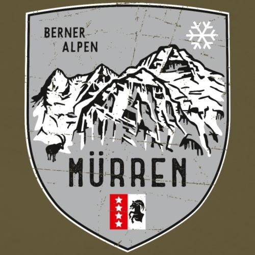 Eiger, Mönch und Jungfrau mit Mürren Flagge - Männer Premium T-Shirt