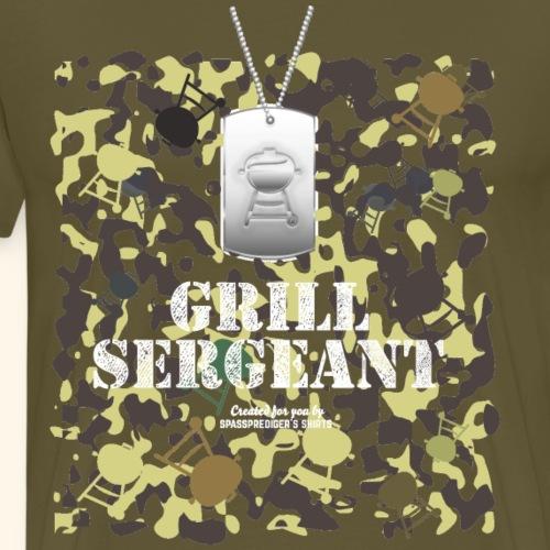 Grill Design Grill Sergeant Grillen T-Shirt - Männer Premium T-Shirt