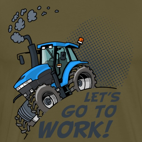 NewHolland8670 lets go to work - Mannen Premium T-shirt