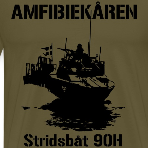 Amfibiekåren - Stridsbåt 90H - Premium-T-shirt herr