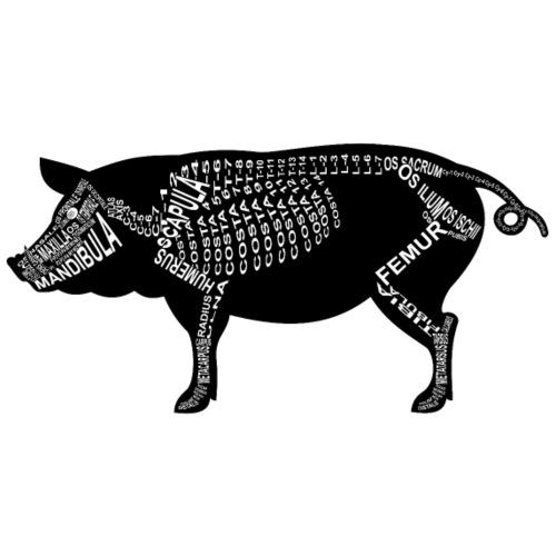 Schwein-Skelett - Männer Premium T-Shirt