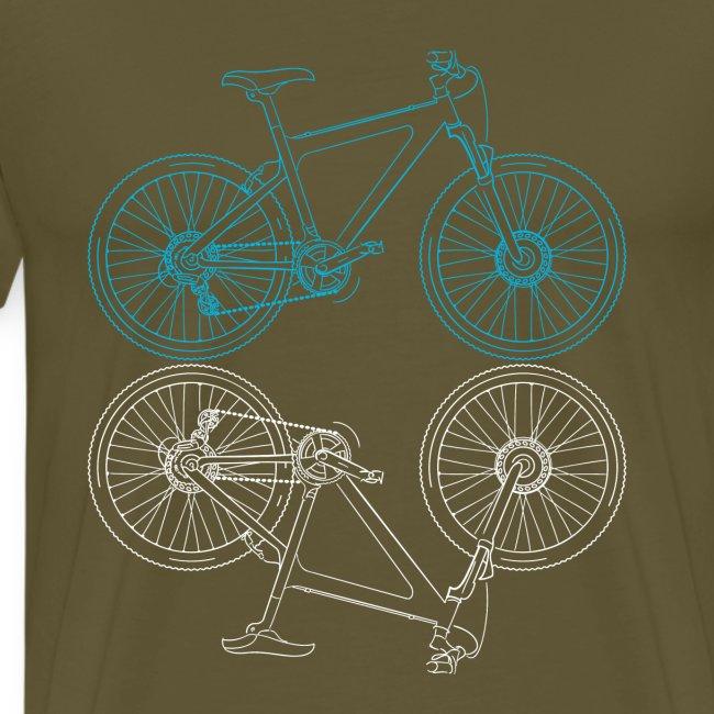 Mountainbike Fahrrad Radsport Skizze