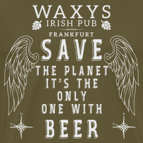 WAXYS PLANET BEER - Men's Premium T-Shirt