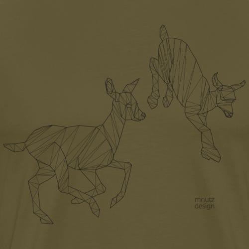 ORIGAMI - Ziegen - Männer Premium T-Shirt