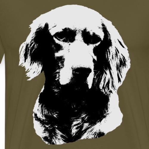 Setter,Hund,Hunderasse,Hundekopf, - Männer Premium T-Shirt