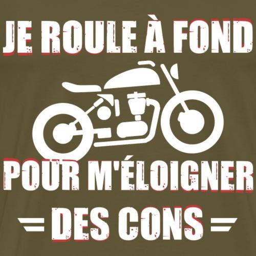 Moto - Je roule à fond - T-shirt Premium Homme