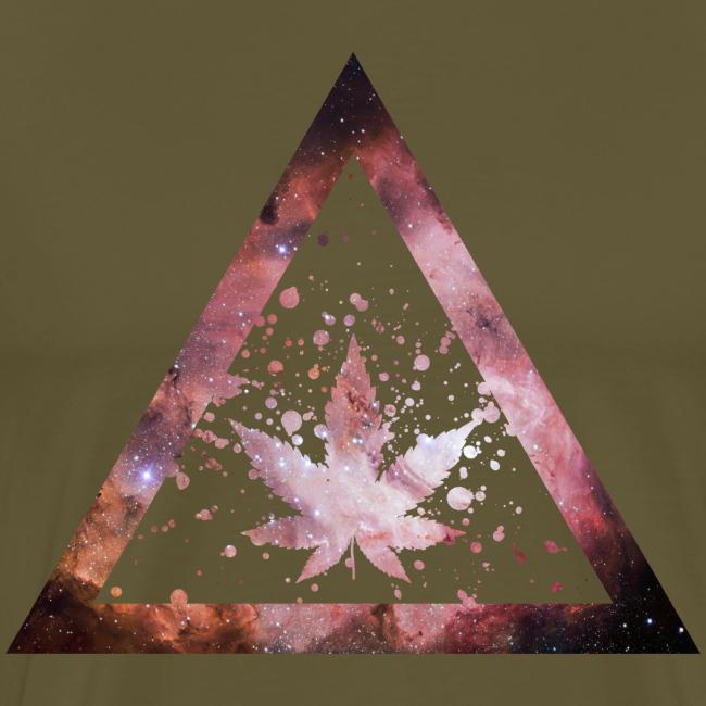 Galaxy Weed Marijuana Triangle Splashes