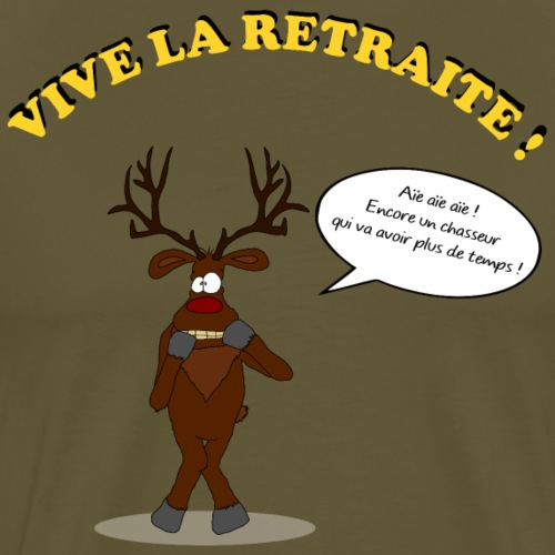 retraite de chasseur - T-shirt Premium Homme