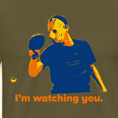 Lustige Halloween-Designs für Tischtennis-Spieler - Männer Premium T-Shirt