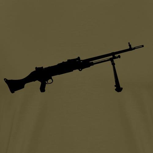 Machine Gun - Kulspruta 58B - FN MAG M240 - Premium-T-shirt herr