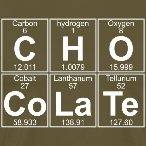 C-H-O-Co-La-Te (chocolate) - Full - Men's Premium T-Shirt