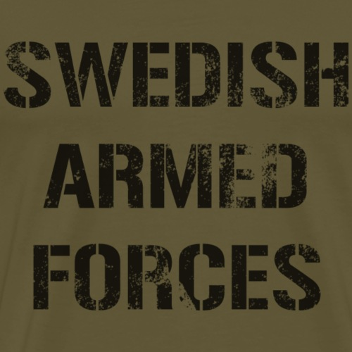 SWEDISH ARMED FORCES - Rugged - Premium-T-shirt herr