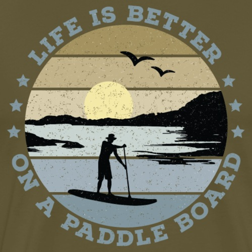 SUP - Life is better on a paddle board (men) - Men's Premium T-Shirt