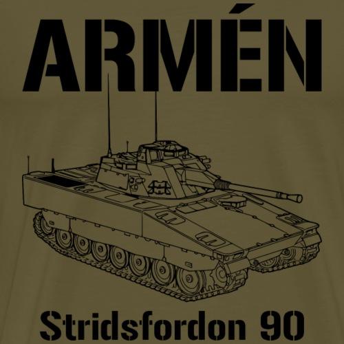Armén Stridsfordon 9040 - Premium-T-shirt herr