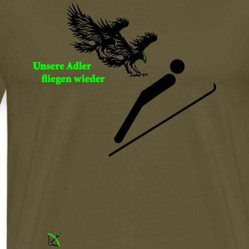 Skispringen - Männer Premium T-Shirt