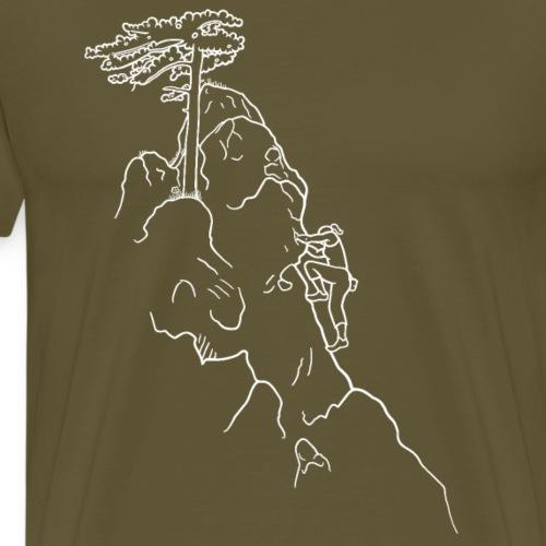 Kletter-Girl, weiß, 1 - Männer Premium T-Shirt