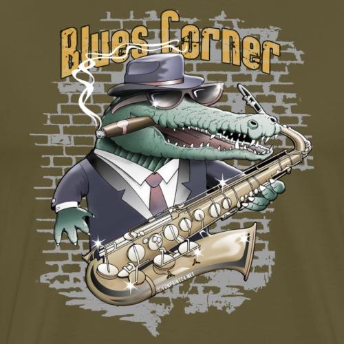 Blues Corner Crocodile - Cool clothes and girts - Miesten premium t-paita
