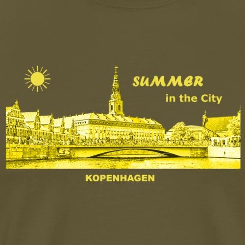 Summer Kopenhagen Dänemark City Rathaus Summer - Männer Premium T-Shirt