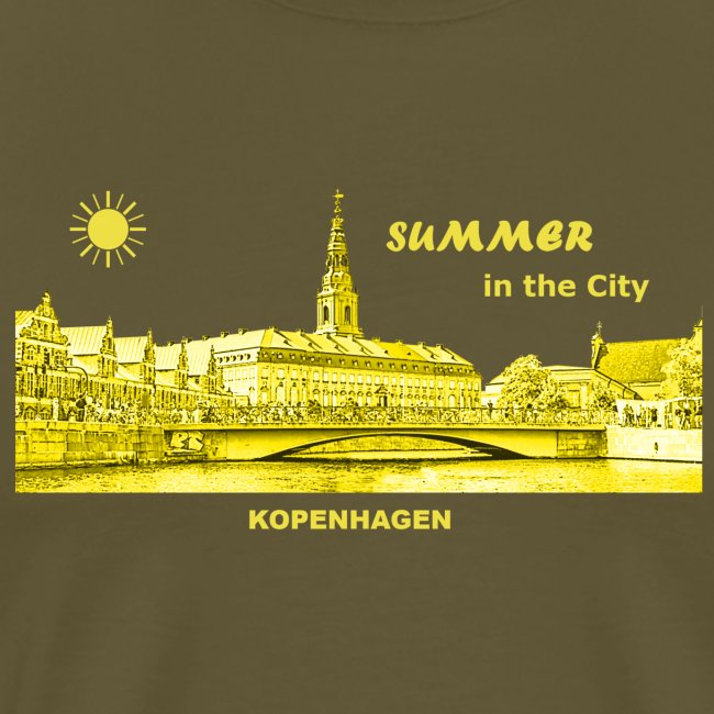 Summer Kopenhagen Dänemark City Rathaus Summer