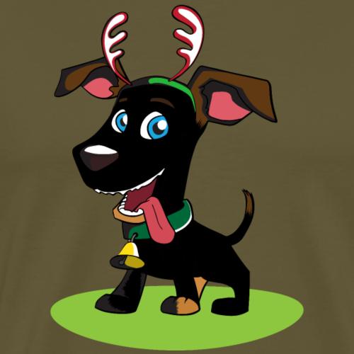 Rentier Hund - Männer Premium T-Shirt