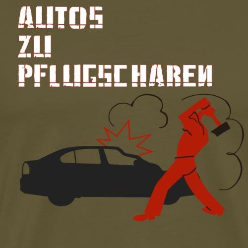 Autos zu Pflugscharen - Männer Premium T-Shirt