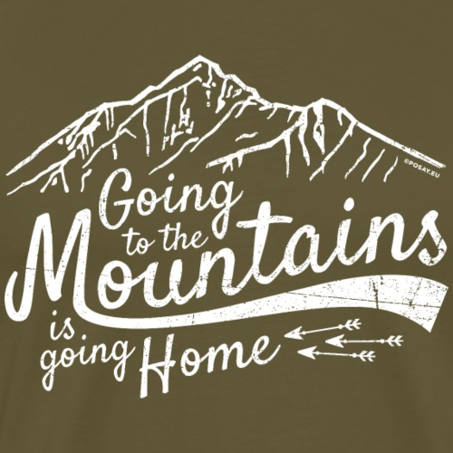 Going to the mountains Shop - Männer Premium T-Shirt