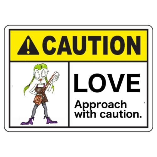 beware of love - Men's Premium T-Shirt