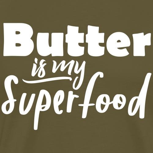 Butter is my Superfood witzig Keto Spruch Shirt - Männer Premium T-Shirt