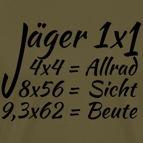 """""""Jäger 1x1""""-Shirt für Jäger und Jägerinnen - Männer Premium T-Shirt"""