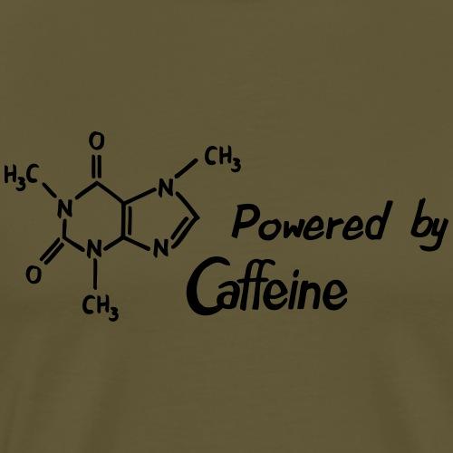 Powered by Caffeine - Männer Premium T-Shirt