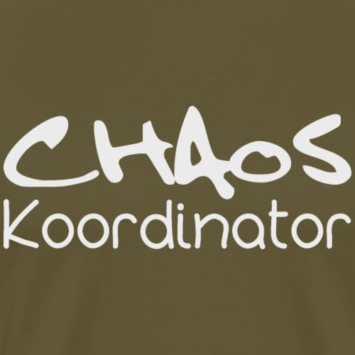 Chaos Koordinator Lehrer Schule Shirt Geschenk - Männer Premium T-Shirt