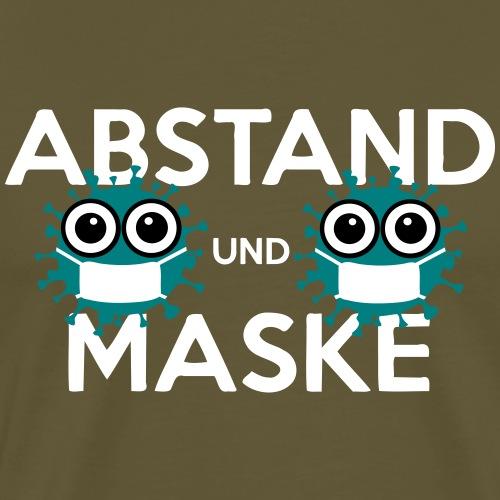 Mit Abstand und Maske gegen CORONA Virus - weiss - Männer Premium T-Shirt