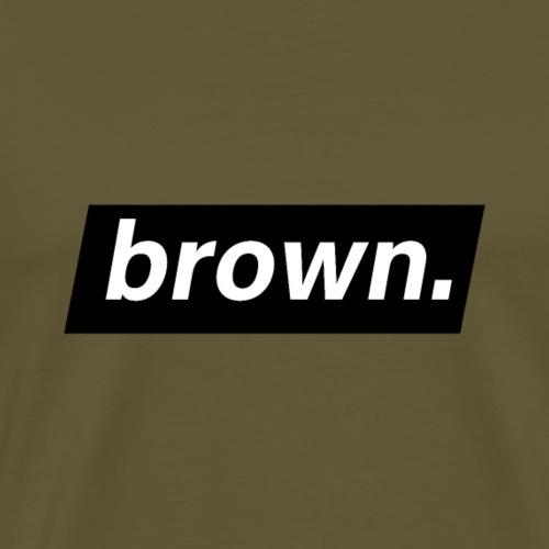 brown - T-shirt Premium Homme