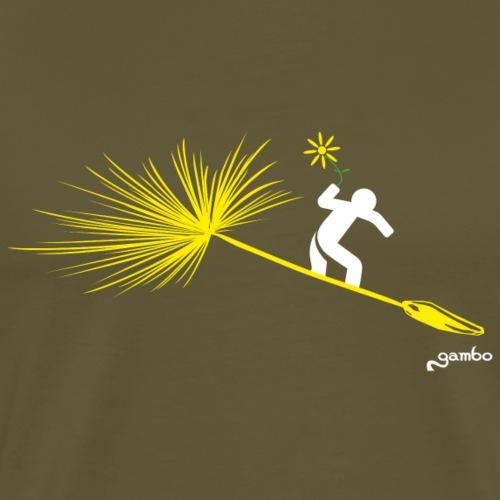 auf Pusteblume surfen - Männer Premium T-Shirt